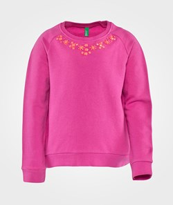 United Colors of Benetton Sweater With Embellished Neckline Rosa