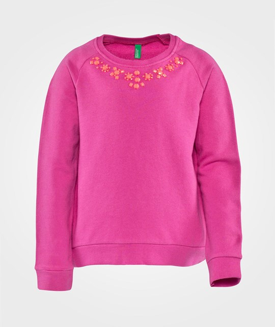 United Colors of Benetton Sweater With Embellished Neckline Rosa Rosa