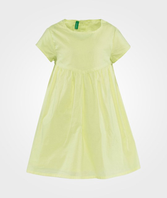 United Colors of Benetton Short Sleeve Round Neck Loose Fit Dress Lemon Lemon