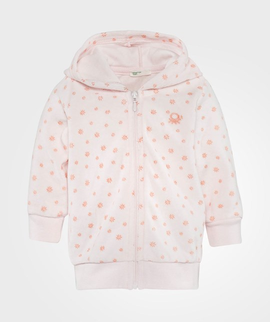 United Colors of Benetton Hooded Sweatshirt Zip Pink Pink
