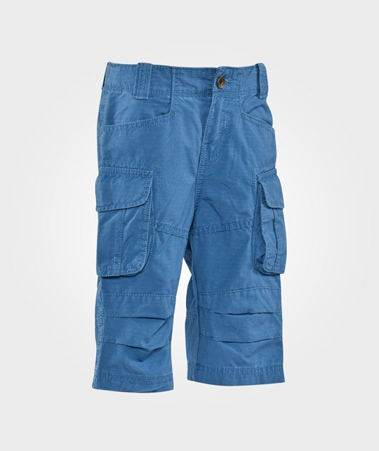 United Colors of Benetton Mid Length Combat Shorts With Side Pockets Blue Blue
