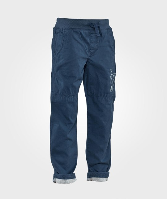 United Colors of Benetton Casual Jersey Lined Trouser With Pockets And Elasticated Waist Navy Navy