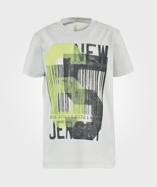 United Colors of Benetton New Jersey Print T-Shirt Grey Sort
