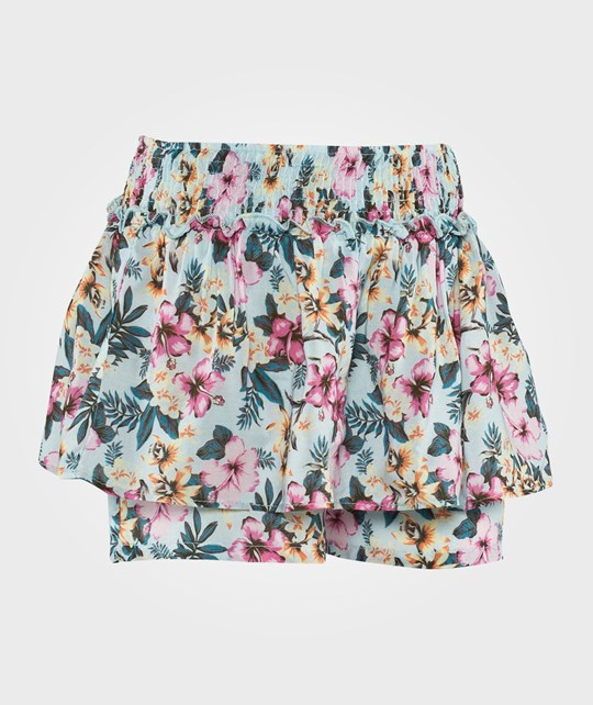 United Colors of Benetton Tropical Floral Print Skort Blue Blue