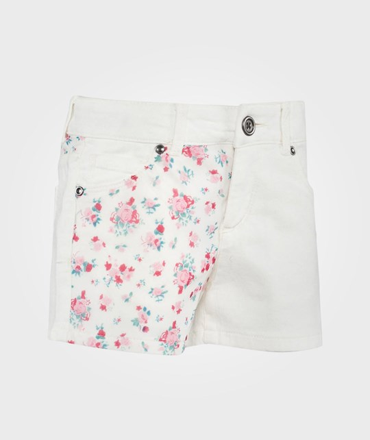 United Colors of Benetton Flower Print Shorts White White