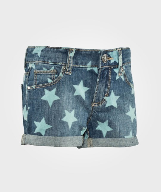 United Colors of Benetton Star Print Turn Up Denim Shorts Blue Blue