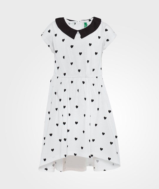 United Colors of Benetton Collar Detail Heart Print White White