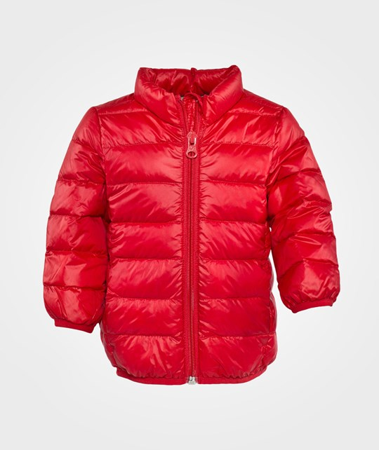 United Colors of Benetton Hooded Jacket, Zip Through Red Rød