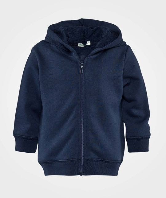 United Colors of Benetton Hooded Sweatshirt Zip Throu Navy Blue Navy Blue