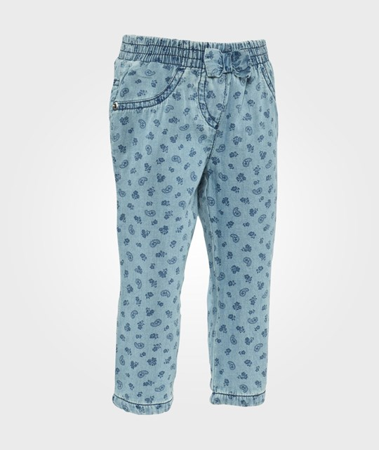 United Colors of Benetton Printed Pants Light Blue Light Blue