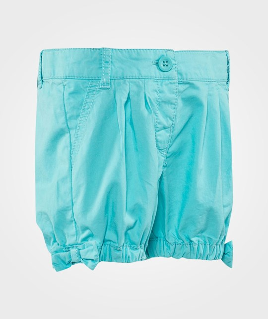 United Colors of Benetton Cropped Shorts With Bow Details Turquoise Turquoise