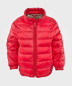 United Colors of Benetton Padded Jacket With Travel Bag Attached Red
