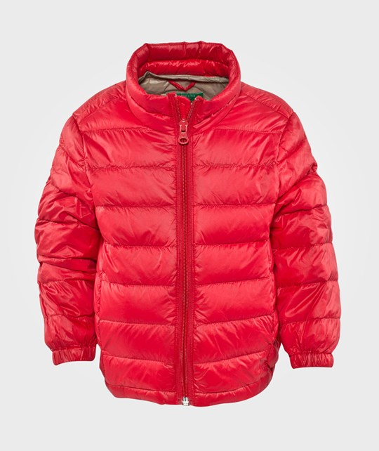 United Colors of Benetton Padded Jacket With Travel Bag Attached Red Red