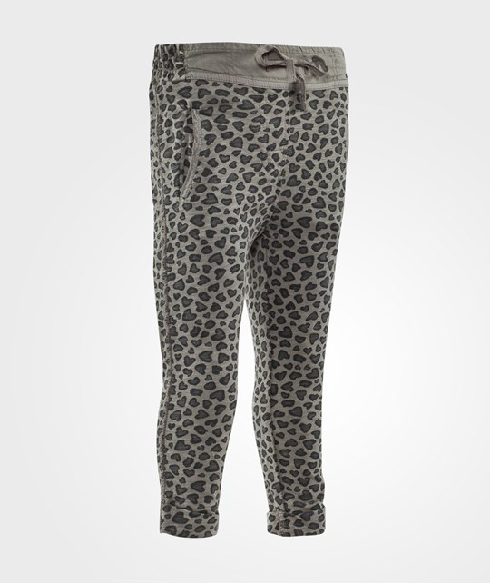 United Colors of Benetton Animal Print Sweat Pants Grey Black