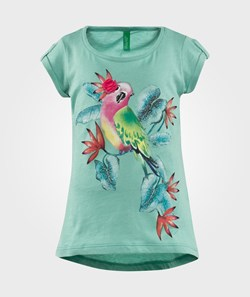 United Colors of Benetton Exotic Bird Print T-Shirt Green