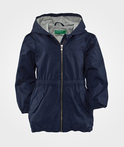 United Colors of Benetton Hooded Parka  Navy