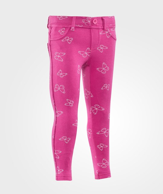 United Colors of Benetton Джеггинсы Butterfly Print Skinny Rosa розовый