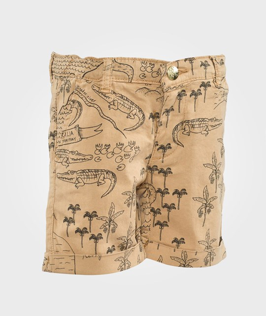 Mini Rodini Aop Chino Shorts Beige Beige