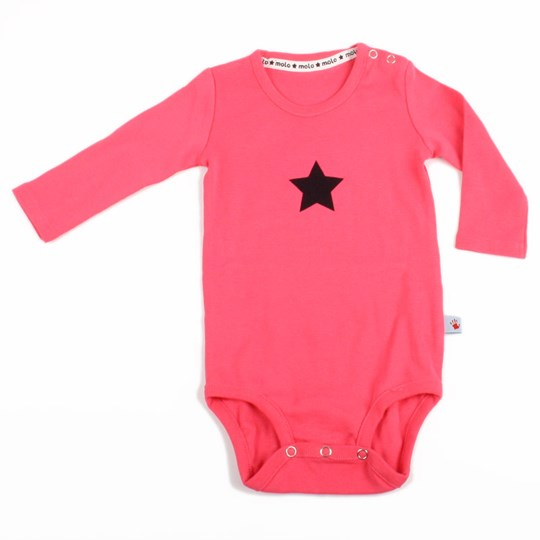 Molo Onesie Foss Girly Pink Pink