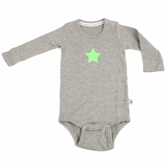 Molo Onesie Foss Grey With Green Grey