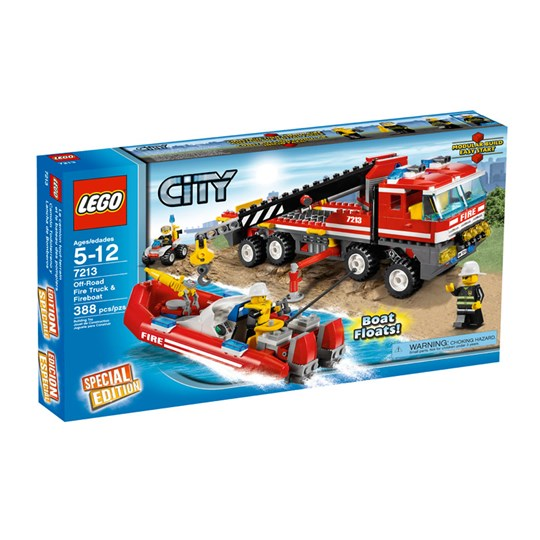 Lego Fire Truck And Fire Boat Multi