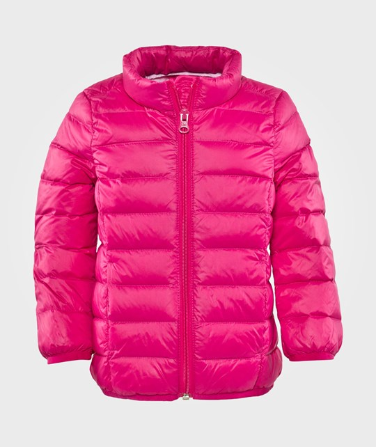 United Colors of Benetton Light Weight Padded Jacket With Travel Bag Pink Rosa