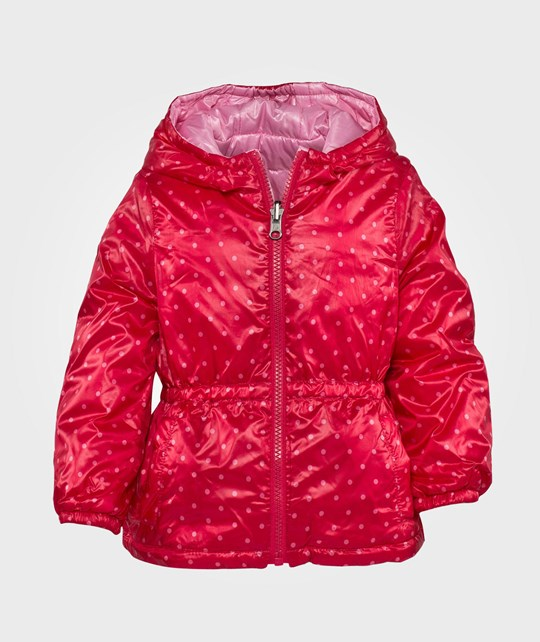 United Colors of Benetton Polka Dot Print Reversible Hooded Jacket Rosa Pink