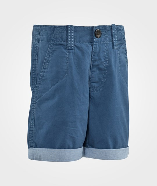 United Colors of Benetton Chino Shorts With Contrast Colour Turn Up Finish Blue Blue