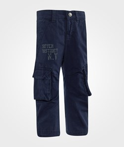 United Colors of Benetton Casual Combat Trouser With Side Pockets Navy