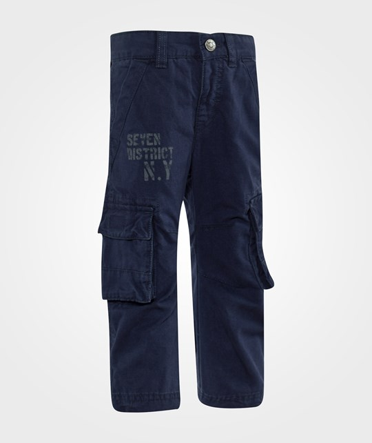 United Colors of Benetton Casual Combat Trouser With Side Pockets Navy Marinblå