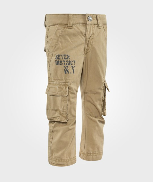 United Colors of Benetton Casual Combat Trouser With Side Pockets Beige Beige