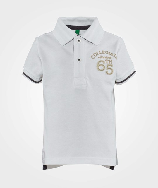 United Colors of Benetton Polo T-Shirt With Contrast Colour Stitching Classic White Classic White