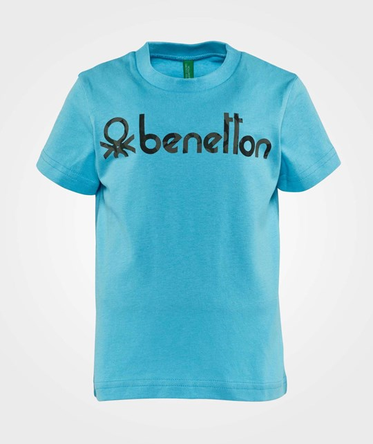 United Colors of Benetton Stylized Logo T-Shirt Bright Blue Bright Blue
