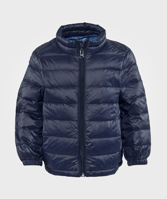United Colors of Benetton Padded Jacket With Travel Bag Attached Navy Navy