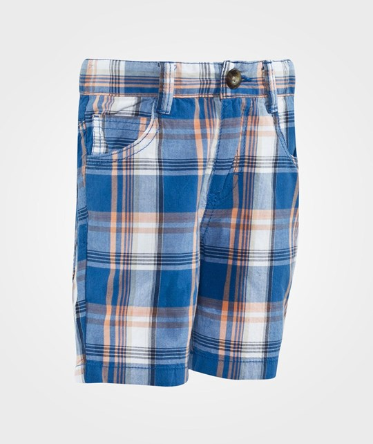 United Colors of Benetton Check Five Pocket Shorts Blue Blue