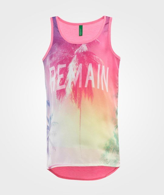 United Colors of Benetton Layered Printed Vest Top Rosa Lyserød