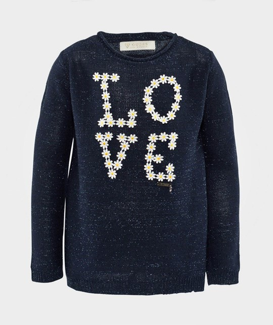 Guess LS Sweater Prussian Blue Blå