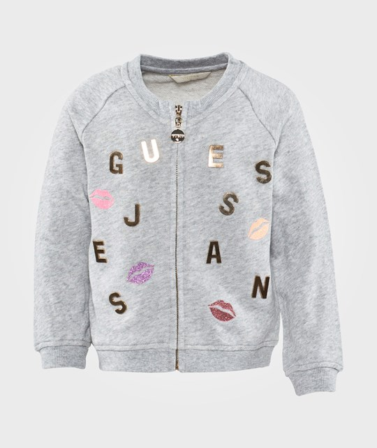 Guess LS Sweatshirt W Zip Quarz Grey Melange Grå