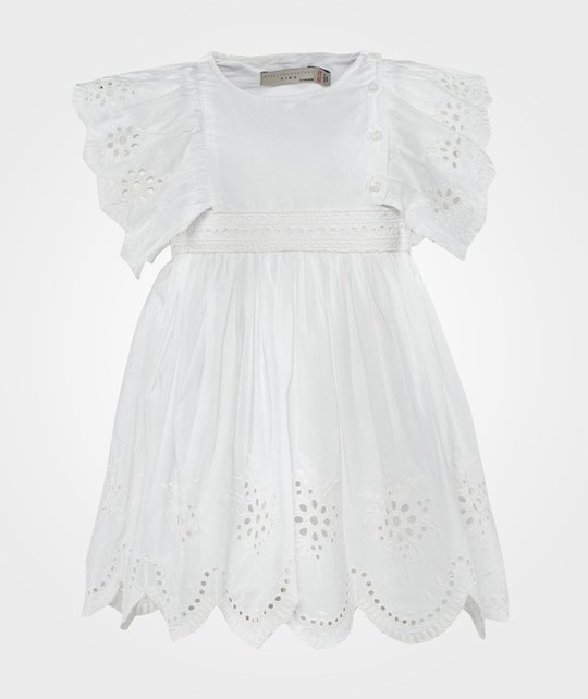 Stella McCartney Kids Foxglove Dress  Cloud White