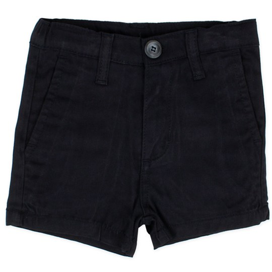 Popupshop Canvas Shorts Navy Blue
