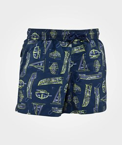 Sunuva Nautical Blueprint Swimshorts