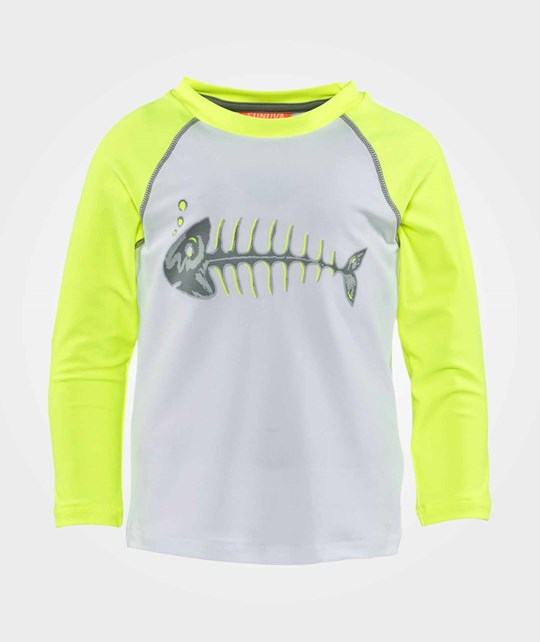Sunuva Neon Stripe Rash Vest  White With Neon Stripe