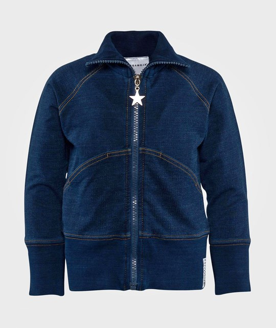 Geggamoja Zip Sweater  Indigo Blue