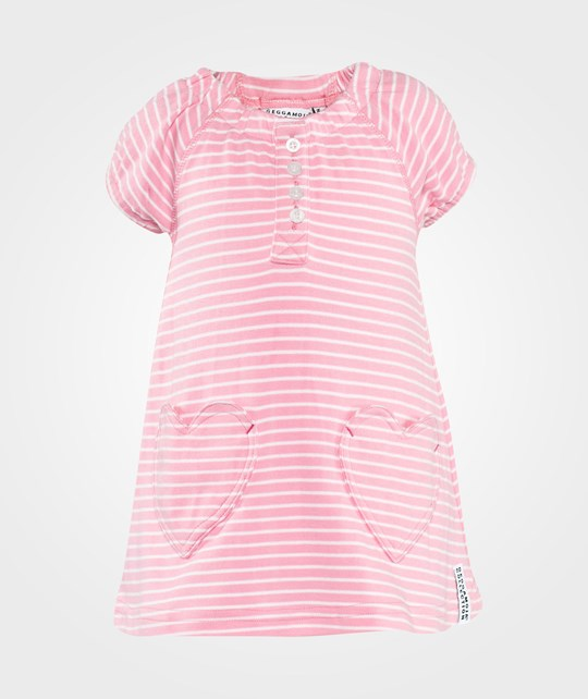 Geggamoja Heart Dress  Pink/White
