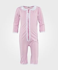 IA BON Baby Girls UV Suit Light Pink/White Rosa