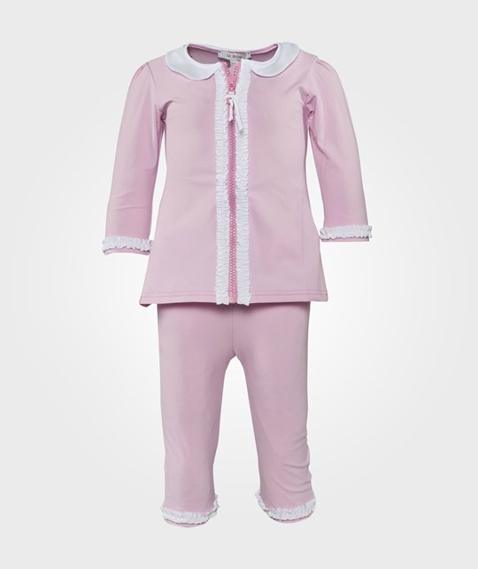 IA BON Girls UV Suit Light Pink/White Rosa