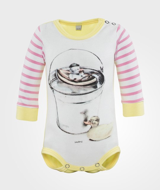 Lasse Åberg Collection  Body Pink Stripe Duck Pink