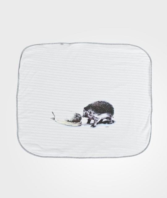 Lasse Åberg Collection  Blanket White Hedgehog Hvit