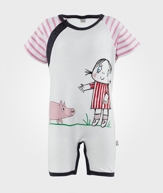 Spöket Laban Half Suit Pink Stripe Little Anna Rosa