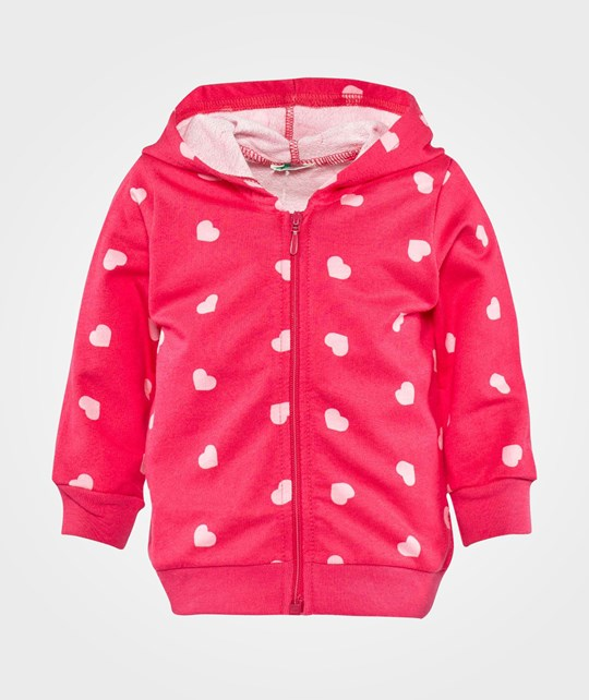 United Colors of Benetton Zip Through Hoodie Pink Pink